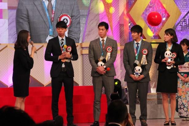 水泳プロジェクト賞を受賞した、世界水泳日本代表メダリスト