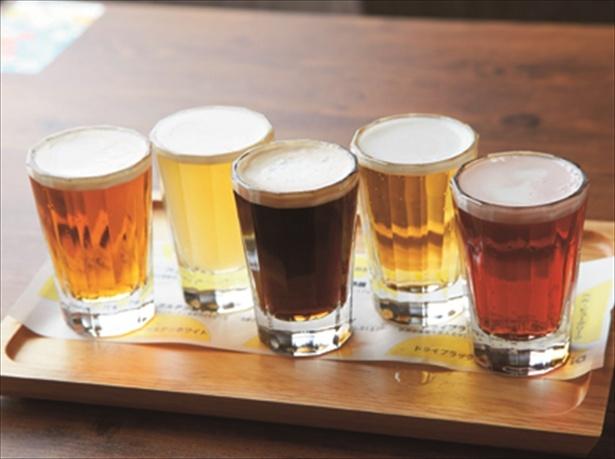 【画像を見る】餃子ならやっぱりビール!「ビール5種飲み比べ」