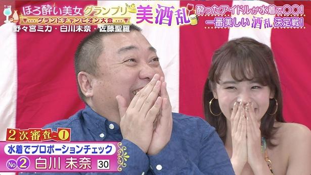 ゲスト審査員の山本圭壱も大興奮!