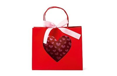 バレンタインのプレゼントや手土産を贈るのにぴったりなギフトバッグ(税抜200円)