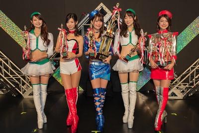 【写真を見る】レースクイーン大賞に選ばれた5名。左から安藤麻貴、生田ちむ、阿久津真央、小越しほみ、藤木由貴