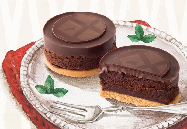 """「Chocolat V」(450円から)は、""""Velvet touch""""をテーマに味わって初めて分かるベルベットのような舌触りが特徴"""