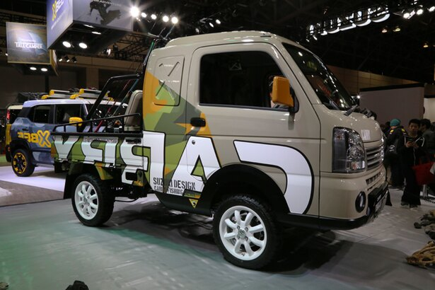 キャビンを拡大し、収納力とドライバーの快適性をアップさせたコンセプトカー・スズキ「CARRY FISHING GEAR」