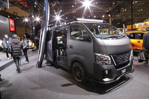 日産「NV350 CARAVAN Grand Touring Concept」は、オン・オフを問わないオールラウンダー車であることを強調