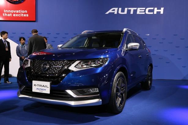 日産の新ブランド・AUTECHが発表された「X-TRAIL AUTECH Concept」は専用エクステリアのほか、デュアルエキゾーストマフラーなどを採用