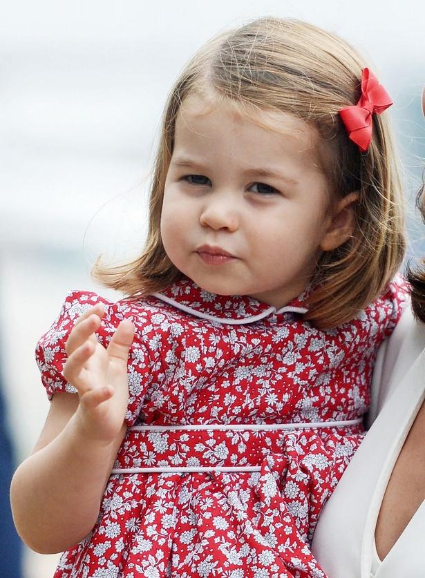 先週、幼稚園デビューを果たしたシャーロット王女