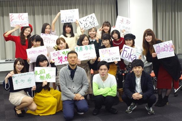「『ぞくり。怪談夜話』主演女優オーディション」に集まった候補者たち