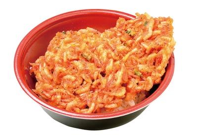 サクサクとした揚げたてのかき揚げが2枚ものった贅沢なかき揚げ丼(750円)