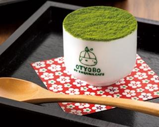 「焼麩の日本酒ティラミス」(抹茶・432円)/OTYOBO by ENGAWA cafe