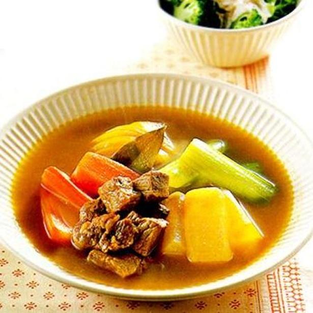 「牛肉と大根のカレースープ煮」 レタスクラブニュースより