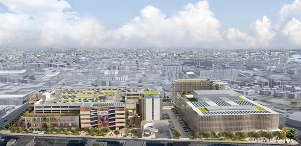 綱島SSTは、住宅、コミュニティスペース、商業施設、水素ステーション、学生寮など、7つの施設から構成される