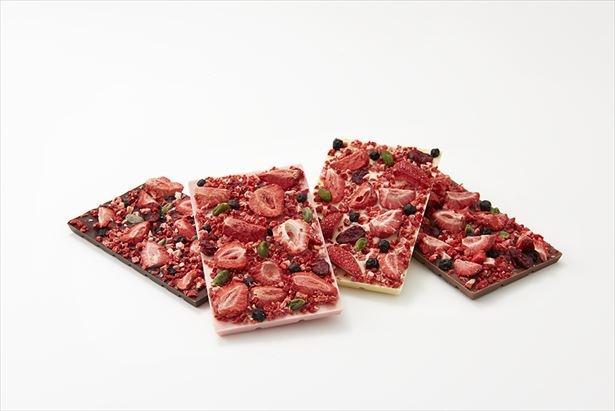 【写真を見る】イチゴなどを敷き詰めた華やかな「オードリータブレット」(各1404円)