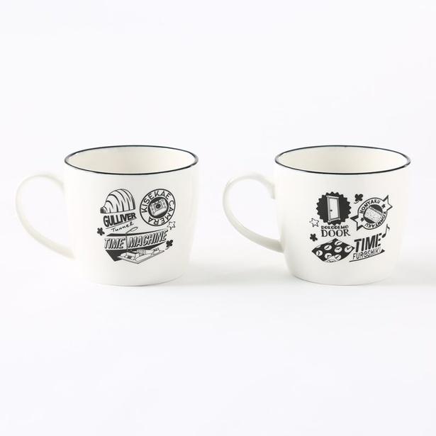 「カラフルデザイン」とは打って変わって、落ち着いたデザインの「モノクロデザイン」の中から「マグカップ」(各税抜300円)