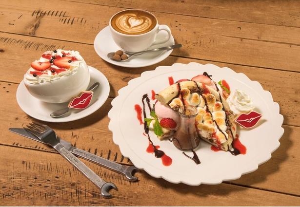 ディーゼルが手掛ける「グロリアスチェーンカフェ」でも、同コラボ企画に連動したメニューを期間限定で提供
