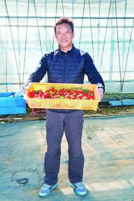 毎年新品種を積極的に導入している「すぎやまいちご園」のオーナー・杉山 圭さん