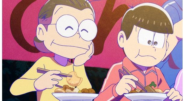 「おそ松さん 第2期」第16話の先行カットが到着。松野家の隣にかわい子ちゃんが越してきた!