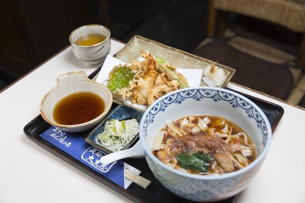 天ぷら盛り合わせときしめんのセット「天めん」(1000円)
