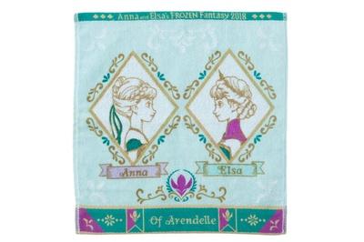 「ミニタオル」(700円)。緑と紫を基調とした、上品な色使い