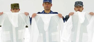 ビニールカッパを着こむことでサウナスーツのような効果が期待できる