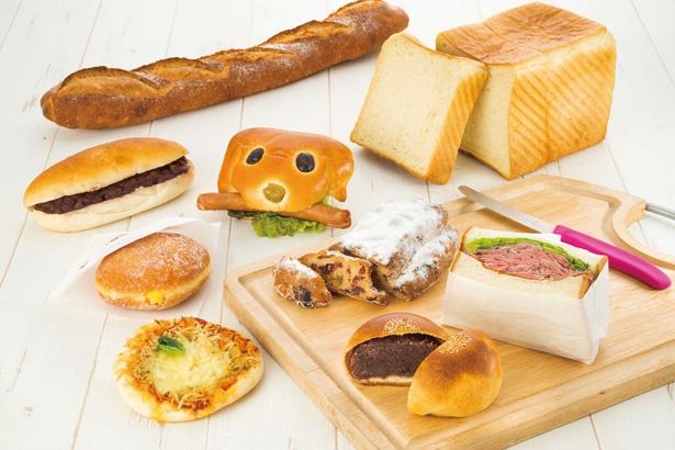 惣菜パンや菓子パン、サンドイッチのほか、保土ケ谷「マラサダ直売所」の揚げたてマラサダまで人気の商品が勢ぞろい