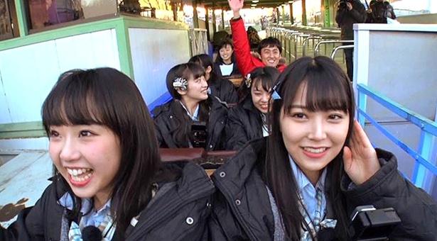 【写真を見る】NMB48メンバーがジェットコースターに挑戦