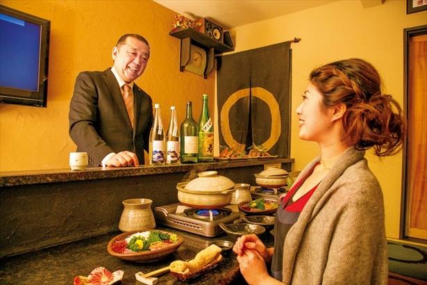 「珠庵」で、料理と日本酒の合わせ方を聞きながらほっこりと