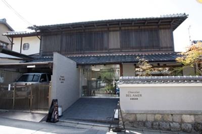 銀閣寺参道にあり、一軒家に見えて見逃しそう/ベル アメール 京都別邸 銀閣寺店