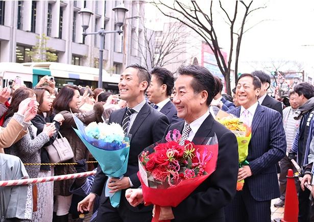 上川端商店街を抜け、いざ、博多座へ