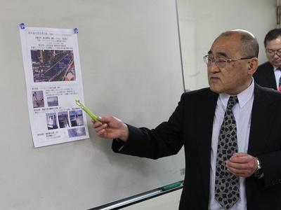 水質改善について解説するエコデザインネットワークの池上俊郎理事長
