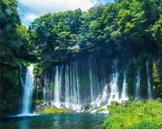 繊細な美を放つ日本をする名瀑・白糸ノ滝(静岡県富士宮市)