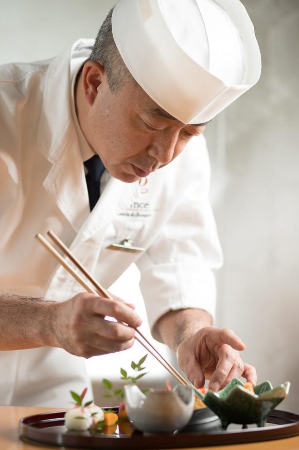 「日本料理 羽衣」の森川裕義料理長