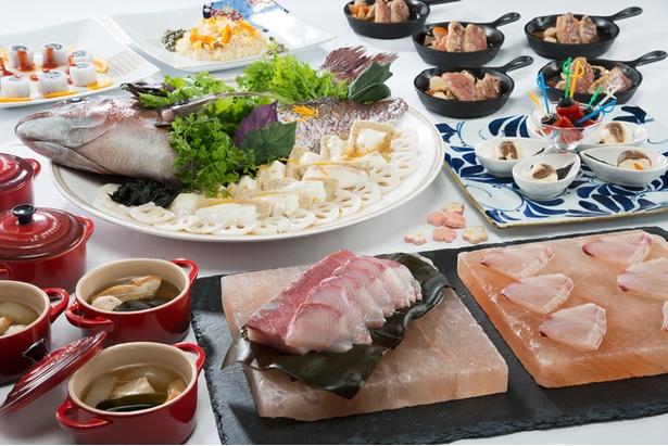 五郎島金時のチーズリゾットや金沢おでん、合鴨の鉄板焼 治部煮風など、石川の幸が存分に堪能できるディナーブッフェ