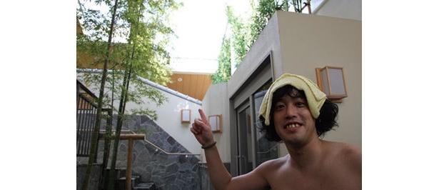 開放感抜群の露天風呂!