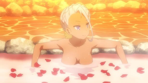 「メルヘン・メドヘン」第4話の先行カットが到着。露天風呂バトルの幕が開ける…!?