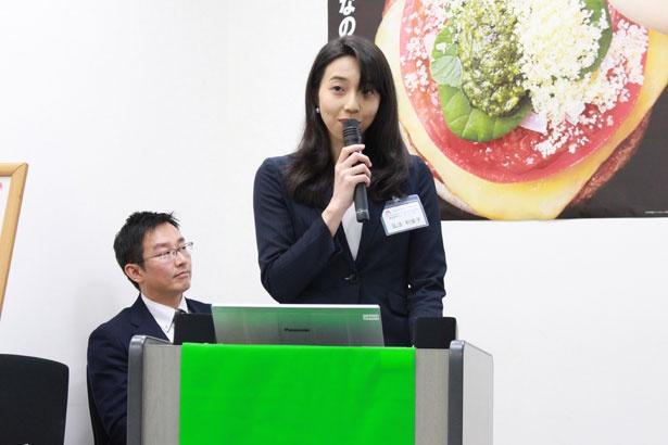 メディア向け試食会に出席した、商品開発グループ リーダー 弘法利榮子氏
