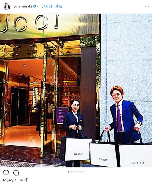 【写真を見る】社員のためにGUCCIで特注財布を購入した三崎優太社長