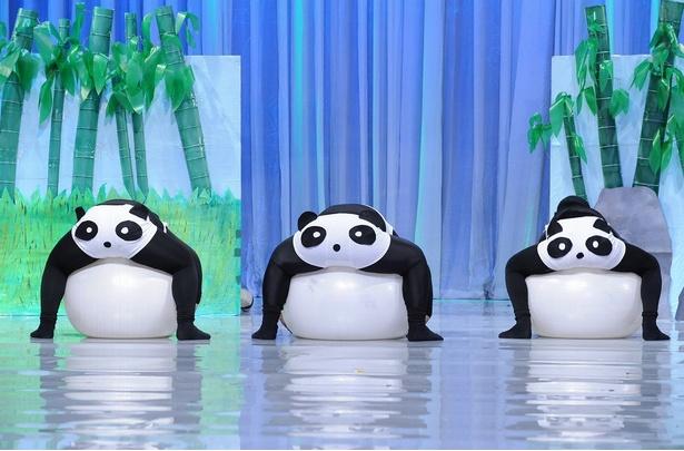 いま話題のパンダを題材にしたパフォーマンスが登場