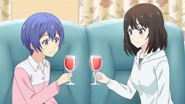 「たくのみ。」第5話の先行カットが到着。ガウン姿の香枝がすすめるワインの味は…?