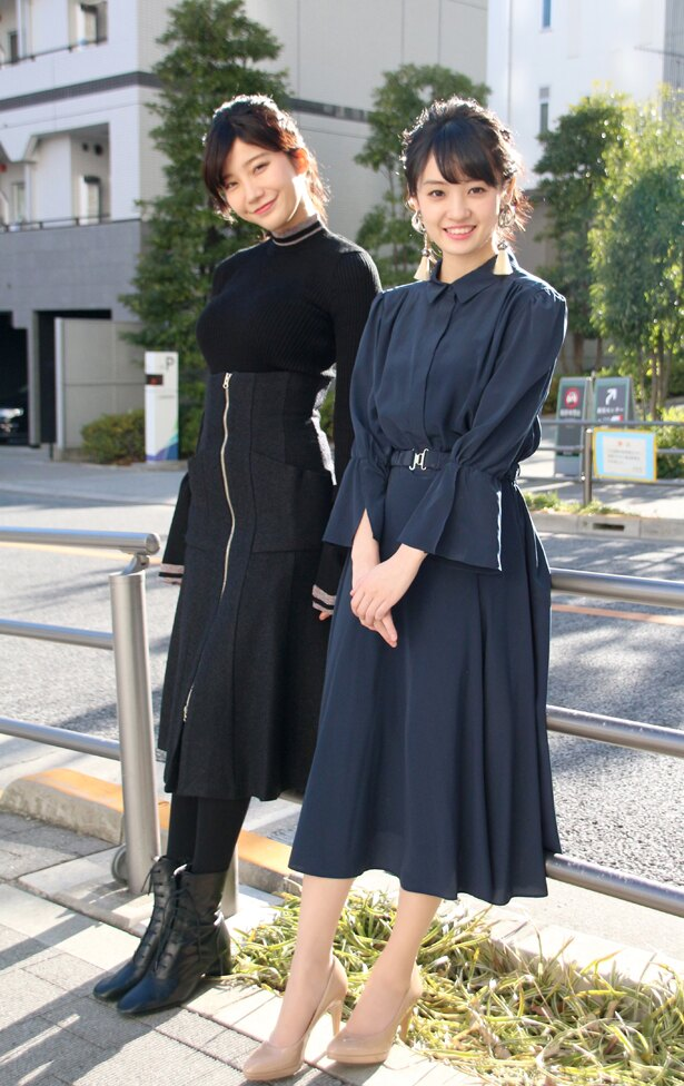 小倉と咲良は終始笑顔でインタビューに応えてくれた