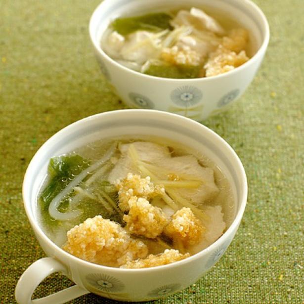 【関連レシピ】しょうがおこげスープ