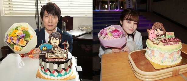 「FINAL CUT」の撮影現場で、佐々木蔵之介と橋本環奈のサプライズ誕生日祝いが行われた