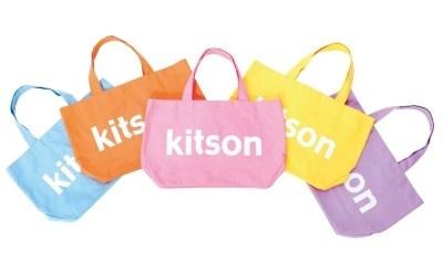 「kitson」のオープンを記念した「キャンバスロゴバッグ」(Sサイズ4725円 Mサイズ8925円)限定発売!