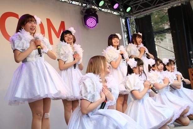 Jewel☆Neigeのファンは現地にも多く駆け付けた