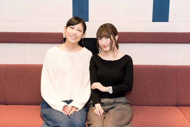 日高里菜、大津愛理がアニメ「メルヘン・メドヘン」第4話のアフレコ後、インビューに応じてくれた