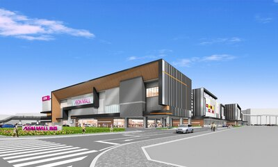 イオンモール座間の完成イメージ。地上3階建てで約160店舗が入る