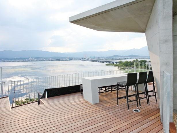 ルーフトップテラスからの眺め/セトレマリーナびわ湖