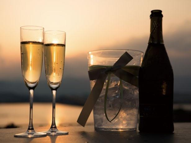 スパークリングワインのサービスも/セトレマリーナびわ湖