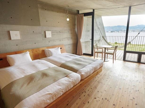木のぬくもりがあふれる客室/セトレマリーナびわ湖