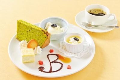 「デザートセット」(680円)/丹波里山レストラン Bonchi
