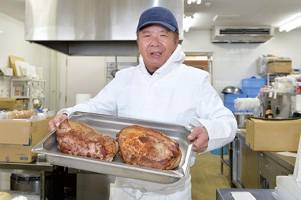 「旬も考慮し、月に2つは新商品を提案していますよ」と開発担当の大辻 茂さん/道の駅 京丹波 味夢の里